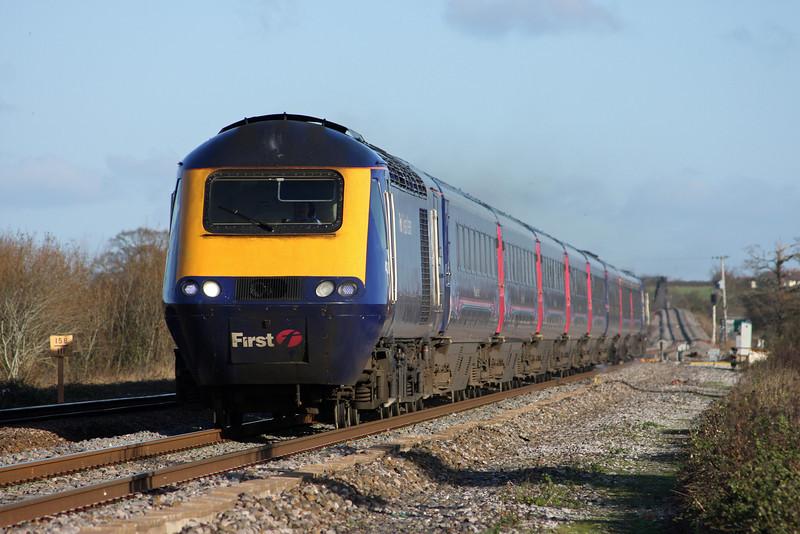 HST, 08.18 London Paddington-Exeter St David's, Cogload, 30-11-09.