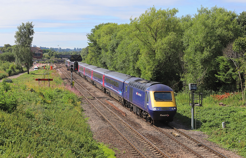 43091/43174, diverted 06.47 Penzance-London Paddington, Hawkeridge Junction, Westbury, 2-8-18.