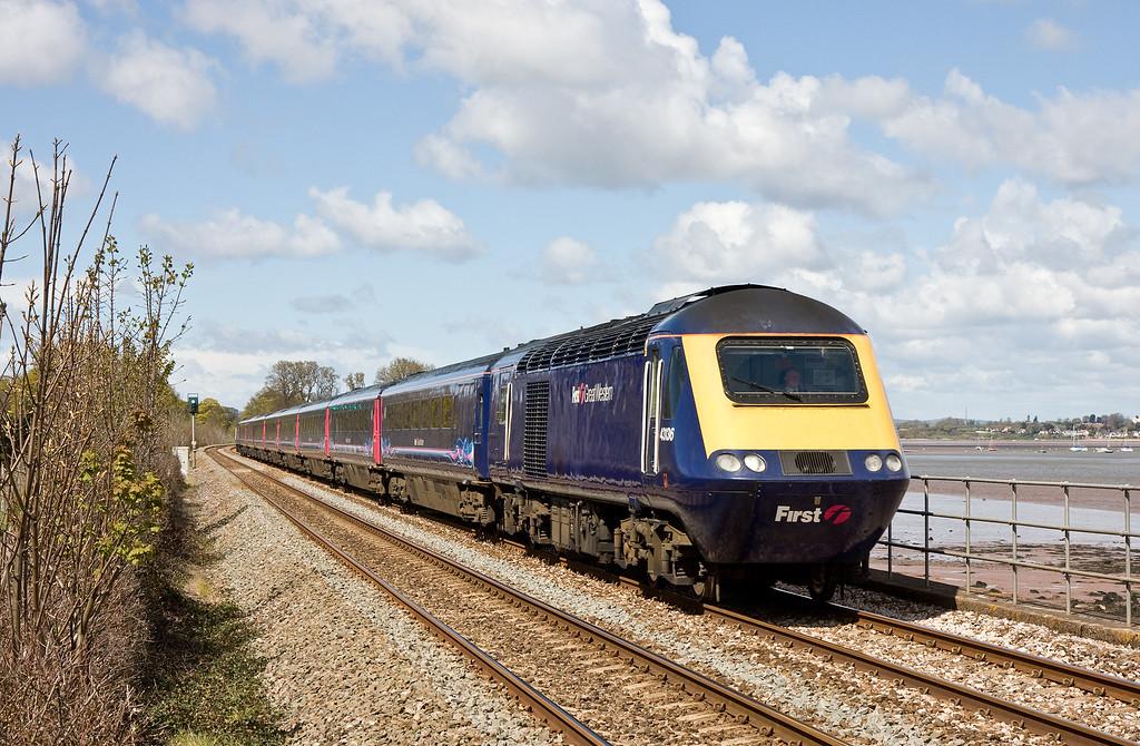 43136/43091, 12.05 London Paddington-Penzance, Powderham, near Starcross, 26-4-16.