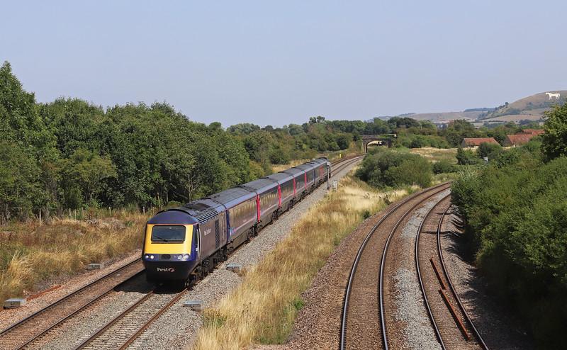 43091/43174, 12.33 London Paddington-Taunton, Fairwood Junction, Westbury.