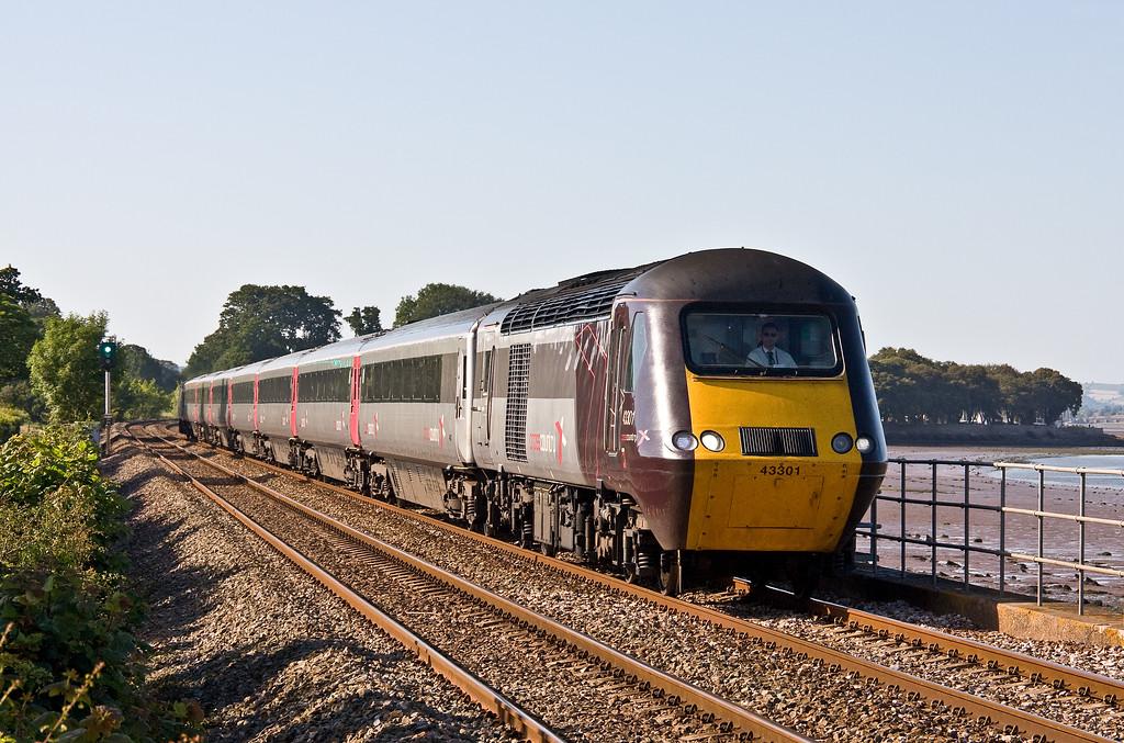 43301/43378, 09.00 Glasgow Central-Penzance (late), Powderham, near Exeter, 17-6-17.