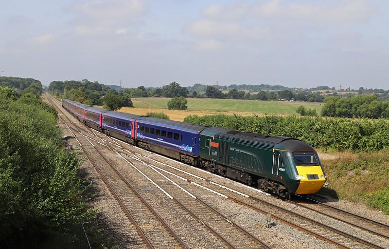 43093/43092, 06.47 Penzance-London Paddington, Fairwood Junction, Westbury, 6-8-18.
