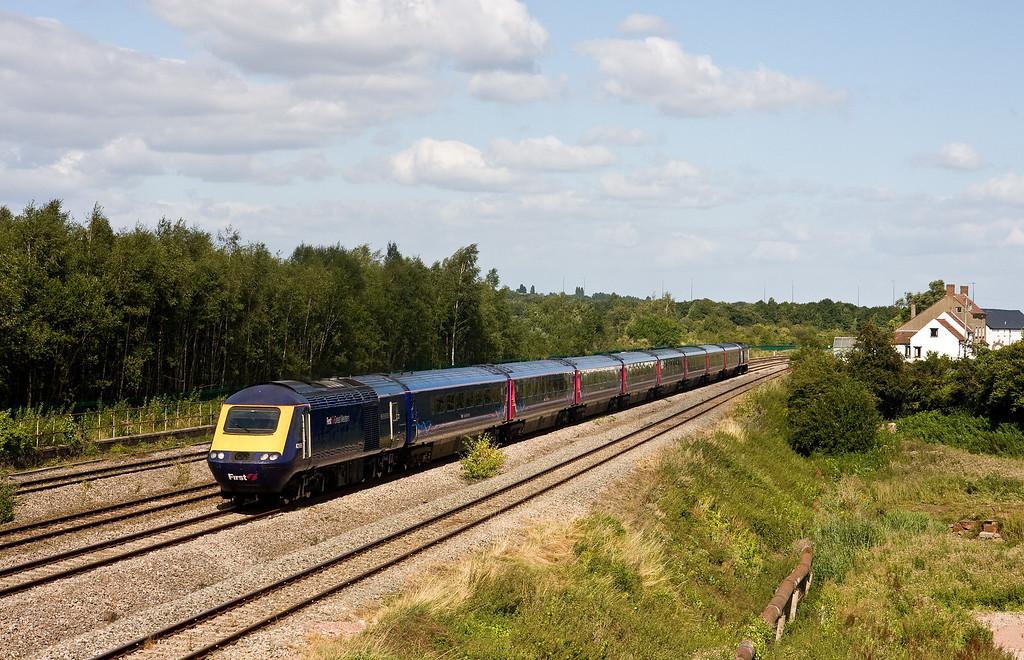 43189/43183, 14.15 London Paddington-Cardiff Central, Undy, near Severn Tunnel Junction, 9-8-16.