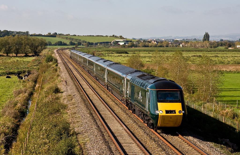 43187/43188, 08.44 Penzance-London Paddington (cancelled between Penzance and Par), Wick, near Langport, 12-10-15.