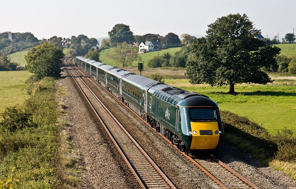43188/43189, 08.44 Penzance-London Paddington, Rewe, near Exeter, 2-10-15.