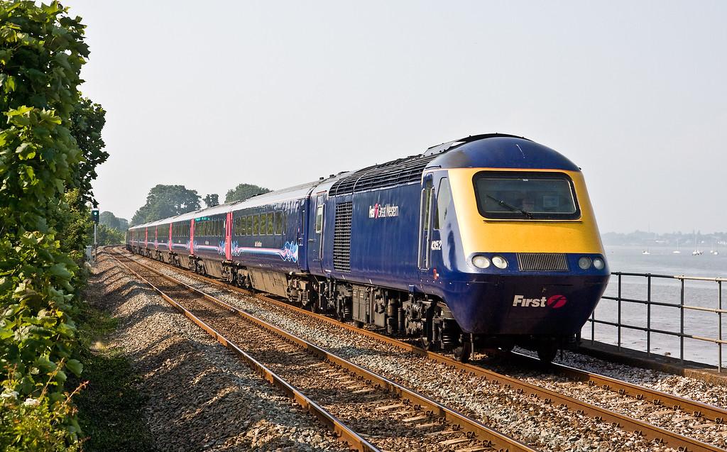 43152/43088, 15.00 London Paddington-Penzance, Powderham, near Exeter, 5-6-16.