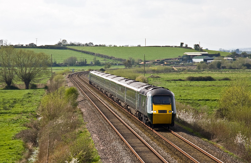 43041/43005, 12.56 Plymouth-London Paddington, Wick, near Langport, 3-4-17.
