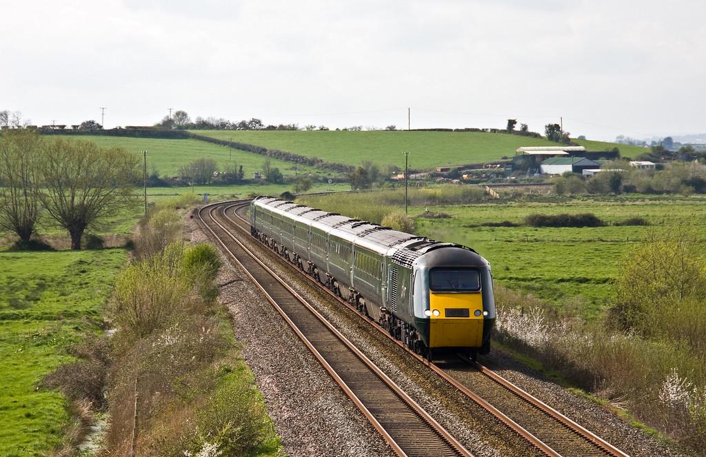 43041/43005, 12.56 Plymouth-London Paddington, Wick, near Langport, 3-4-17.