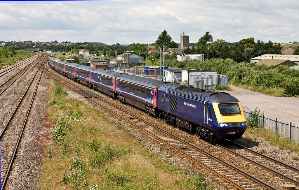 43033/43151, 11.28 Swansea-London Paddington, Severn Tunnel Junction, 23-6-15.