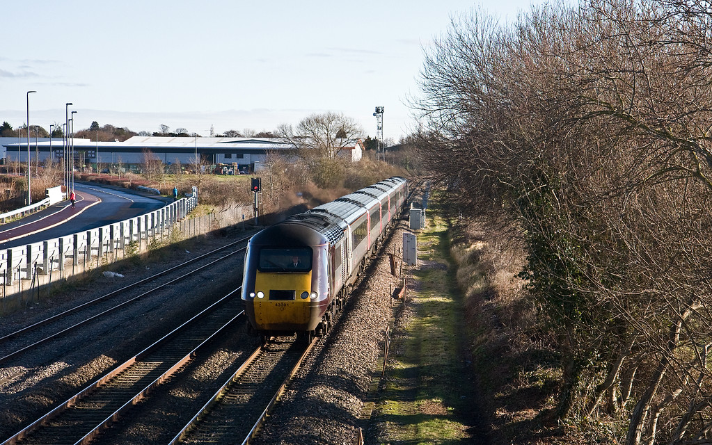 43301/43321, 06.00 Leeds-Plymouth, Norton Fitzwarren, near Taunton, 26-1-18.