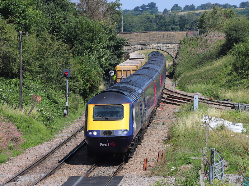 43025/43180, diverted 10.35 London Paddington-Plymouth, Hawkeridge Junction, Westbury, 2-8-18. 9 late.