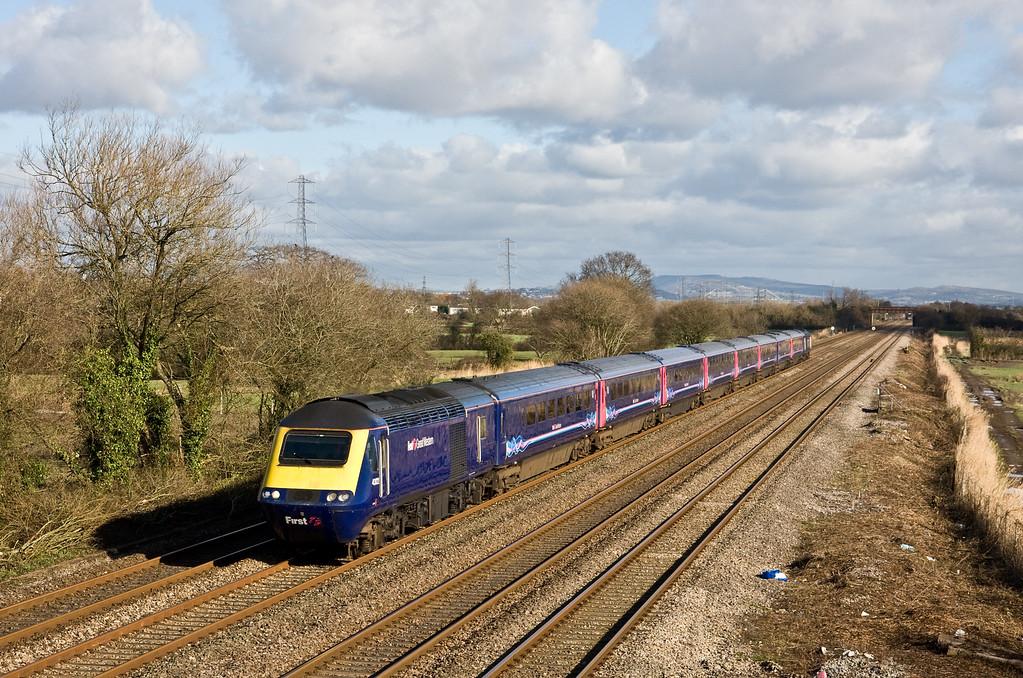 43122/43010, 09.45 London Paddington-Swansea, St Mellons, Cardiff, 10-2-16.