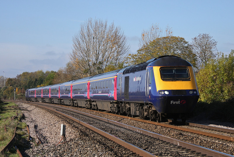 43094/43198, 08.44 Penzance-London Paddington, Bathpool, Taunton, 1-11-10.