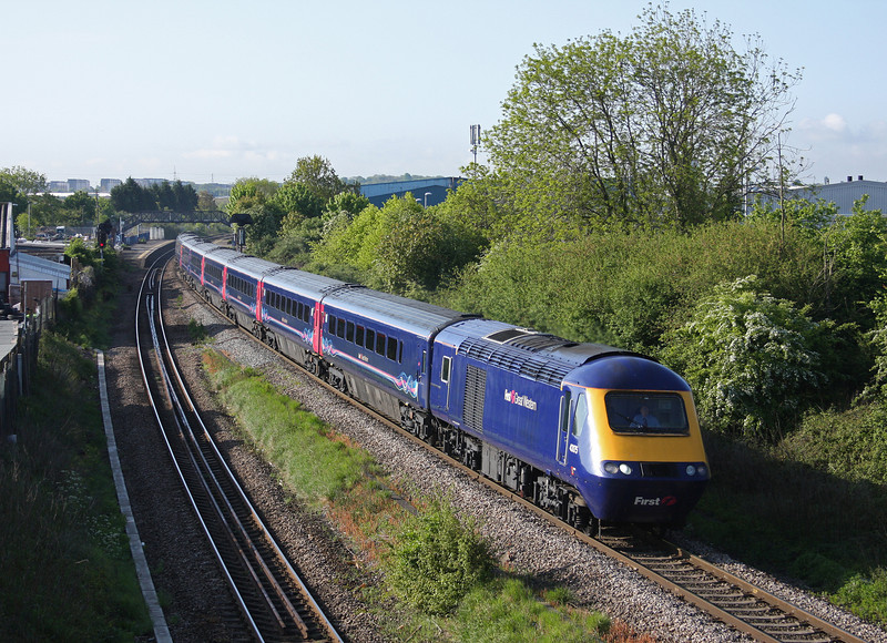 43175/43, 06.45 London Paddington-Swansea, Patchway, Bristol, 17-5-10.