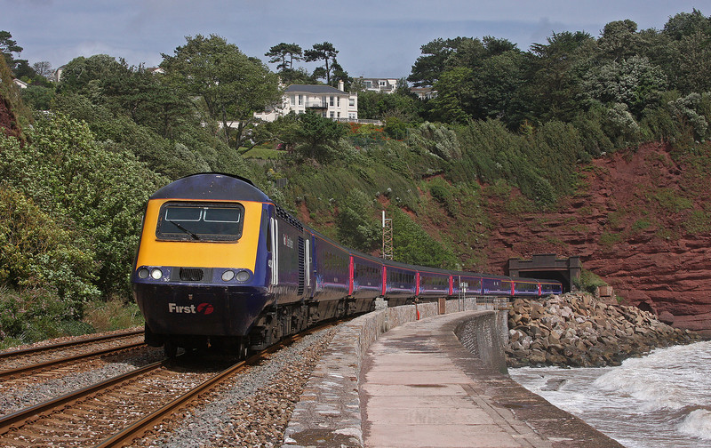 HST, 11.06 Paddington-Plymouth, Holcombe, near Teignmouth, 15-8-12.