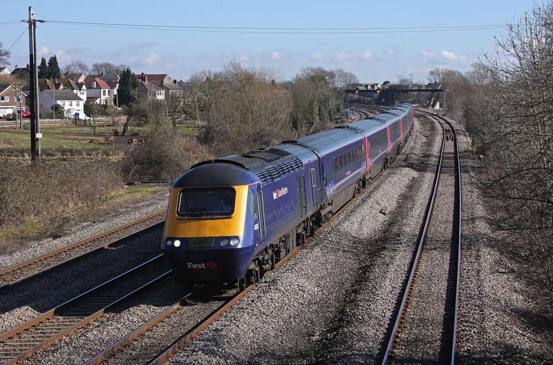43071/43, 10.15 London Paddington-Cardiff Central, Magor, 1-3-10.