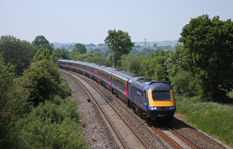 43142/43019, 08.44 Penzance-London Paddington, Willand, near Tiverton, 4-6-10.