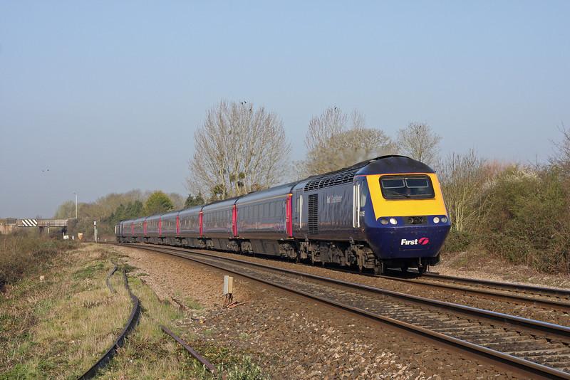 43005/43091, 07.40 Paignton-Paddington, Bathpool, Taunton, 26-3-12.