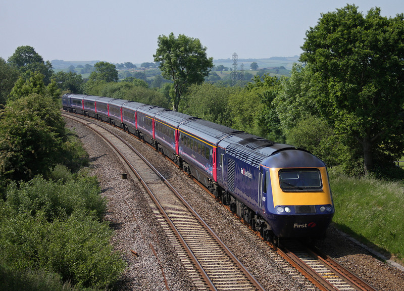 43125/43194, 07.38 Penzance-London Paddington, Willand, near Tiverton, 4-6-10.