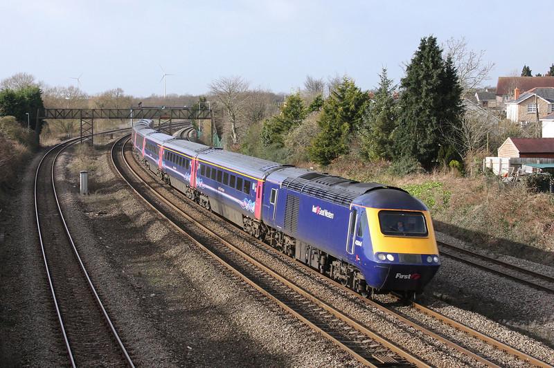 43144/43185, 10.55 Cardiff Central-London Paddington, Magor, 30-1-13.