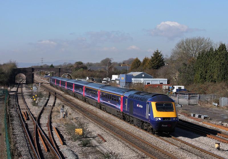 43091/43, 10.55 Cardiff Central-London Paddington, Magor, 1-3-10.