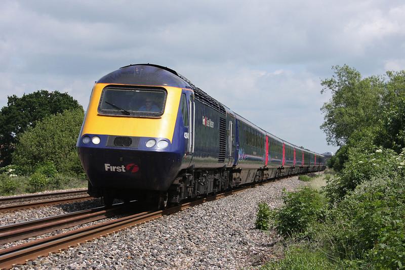 43040/43028, 12.06 London Paddington-Penzance (late), Bathpool, Taunton, 11-6-10.