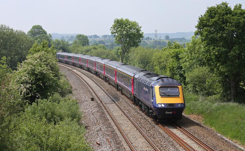43135/43, 08.44 Penzance-London Paddington, Willand, near Tiverton, 2-6-10.