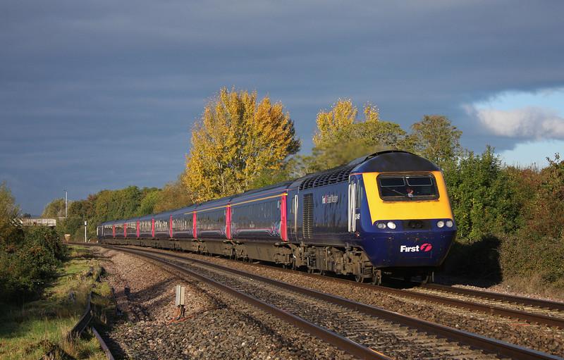 43146/43004, 05.41 Penzance-LondonPaddington, Bathpool, Taunton, 22-10-10.