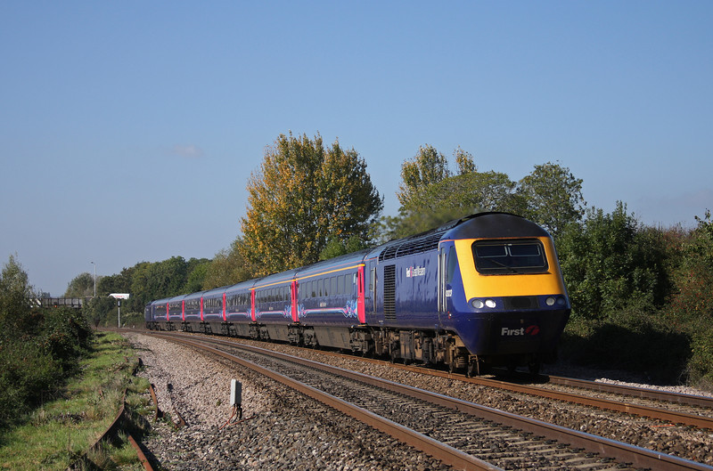 43023/43190, 11.55 Exeter St David's-London Paddington, Bathpool, Taunton, 11-10-10.