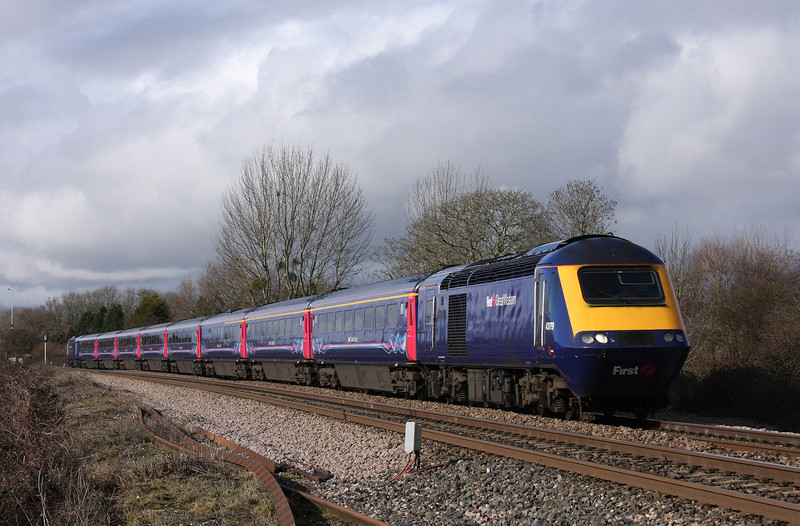 43179/43030, 08.44 Penzance-London Paddington, Bathpool, Taunton, 16-2-10.