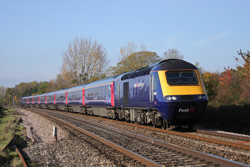 43164/43132, 07.38 Penzance-London Paddington, Bathpool, Taunton, 1-11-10.