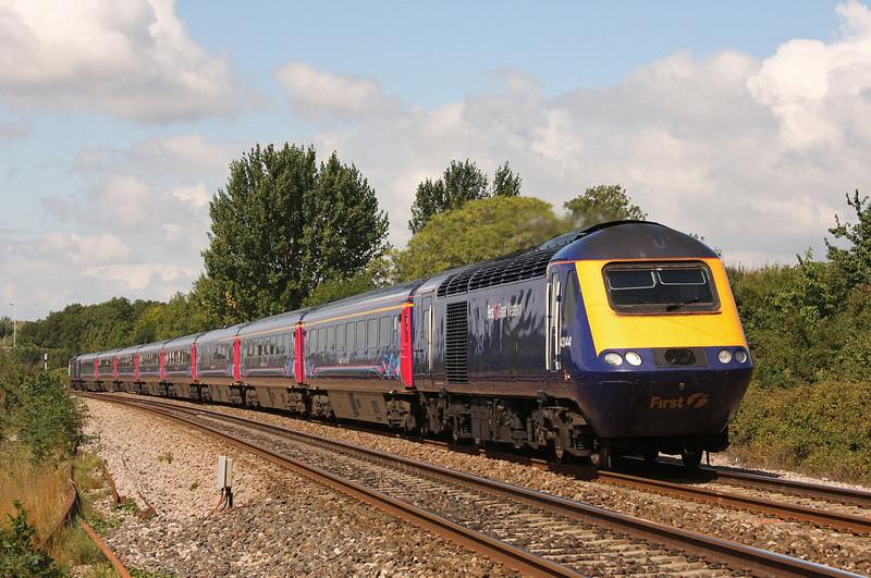 43144/43151, 07.38 Penzance-London Paddington (late), Bathpool, Taunton, 13-8-10.