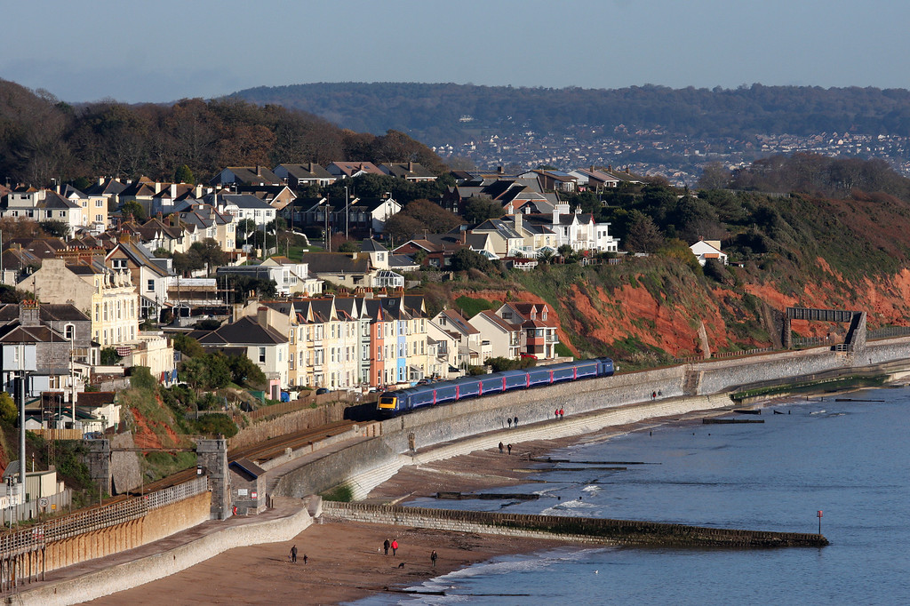 HST, 07.30 London Paddington-Penzance, Dawlish, 11-11-12.