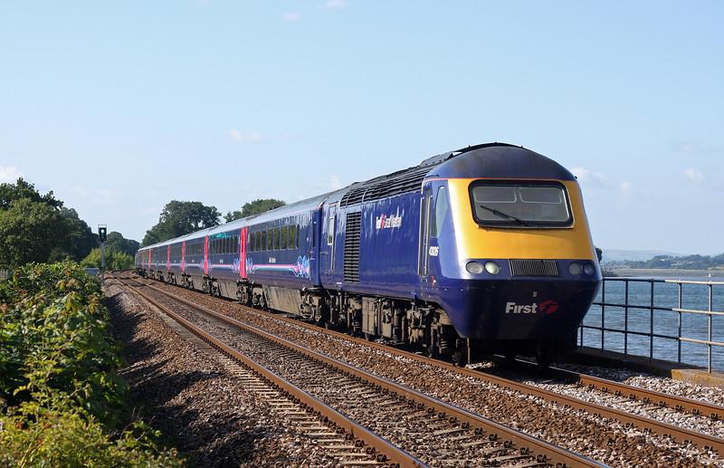 43026/43165, 15.06 Paddington-Penzance, Powderham, near Starcross, 28-6-11.