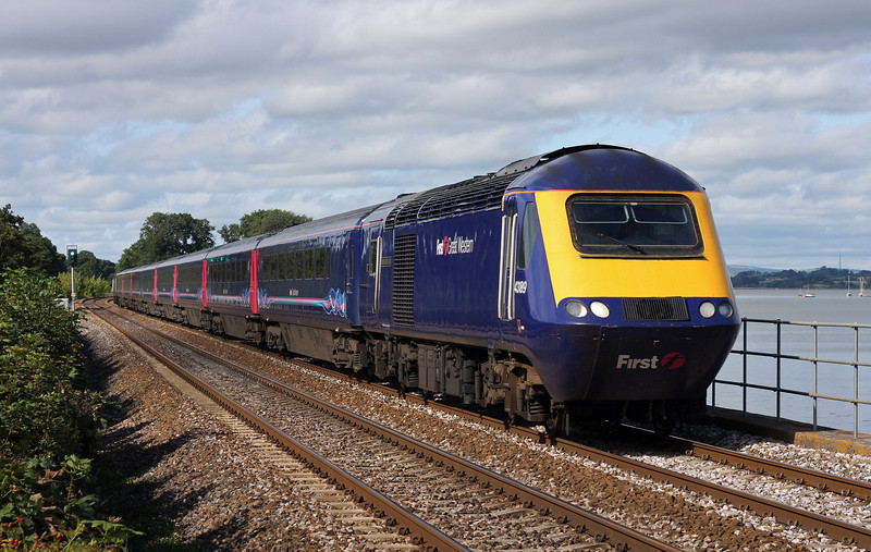43189/43042, 13.06 London Paddington-Penzance, Powderham, near Starcross, 8-9-11.