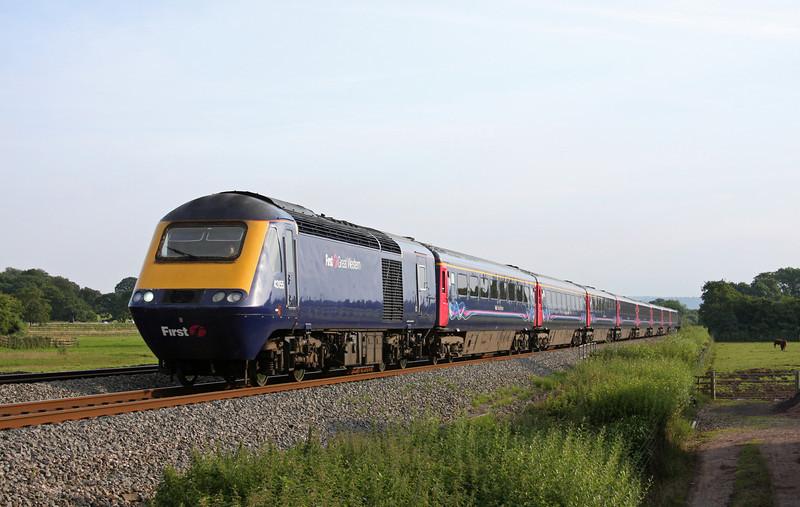 43155/43190, eastbound, Pugham Crossing, near Burlescombe, 21-7-12.