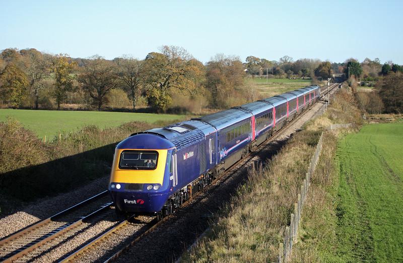43190/43, 12.18 London Paddington-Taunton, Woodborough, near Pewsey, 16-11-10.