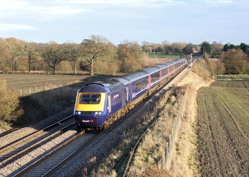 HST, 13.06 Paddington-Plymouth, Woodborough, near Pewsey, 9-12-11.