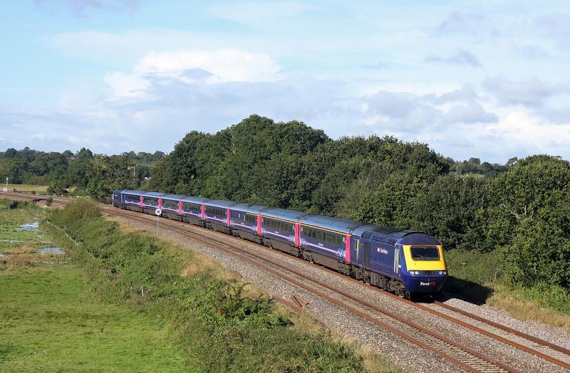 HST, eastbound, Ellerhayes, Silverton, near Exeter, 25-9-12.