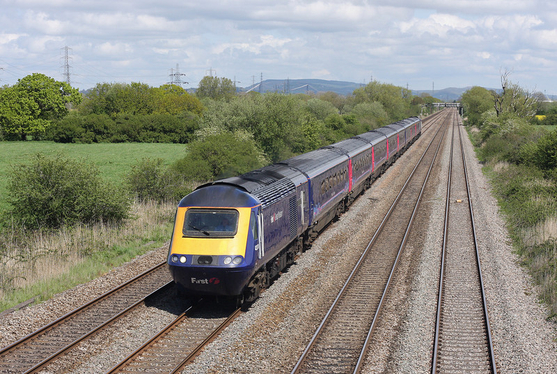 HST, westbound, St Mellons, Cardiff, 8-5-12.