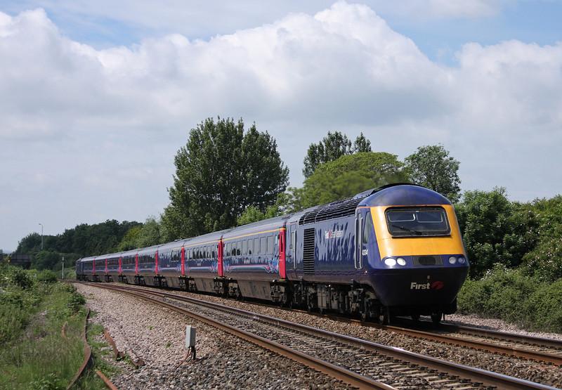 43134/43032, 10.00 Penzance-London Paddington (late), Bathpool, Taunton, 11-6-10.