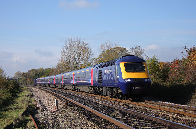 43186/43191, 11.55 Exeter St David's-London Paddington, Bathpool, Taunton, 1-11-10.