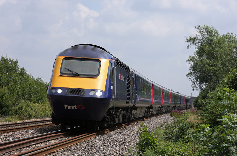 HST, 11.06 London Paddington-Plymouth, Bathpool, Taunton, 23-7-10.