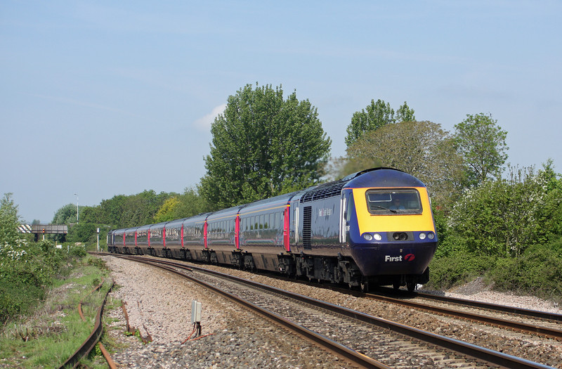 43016/43, 06.48 Penzance-London Paddington, Bathpool, Taunton, 21-5-10.