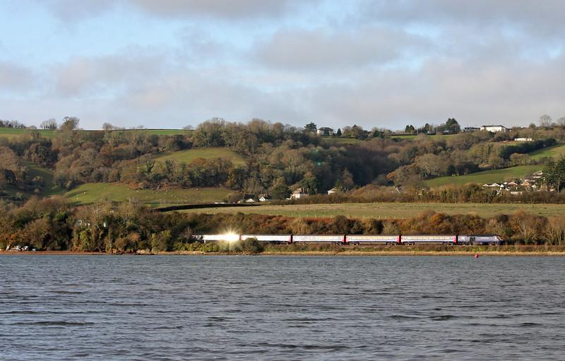 HST, eastbound, Bishopsteignton, near Teignmouth, 21-12-11.