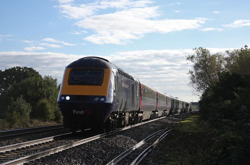 43031/43028, westbound, Bathpool, Taunton, 22-10-10.