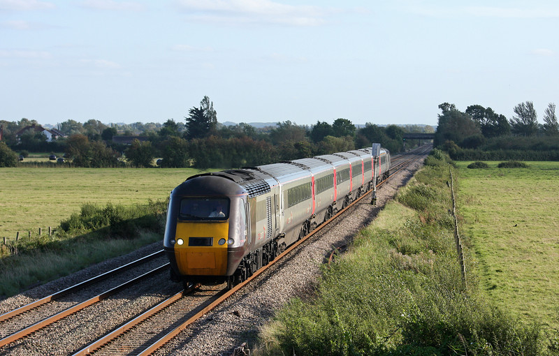 HST, northbound, Middle Street, near Brent Knoll, 13-9-12.