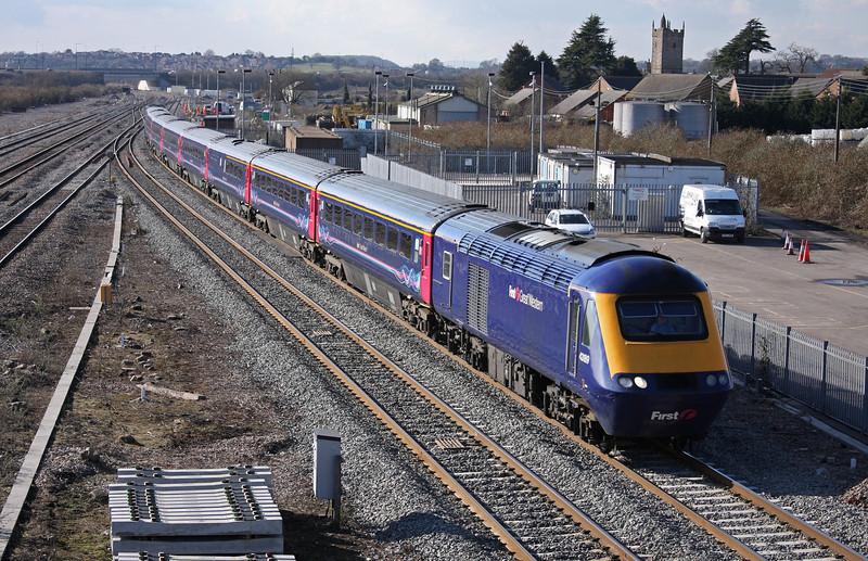 43189/43, 13.55 Cardiff Central-London Paddington, Severn Tunnel Junction, 1-3-10.