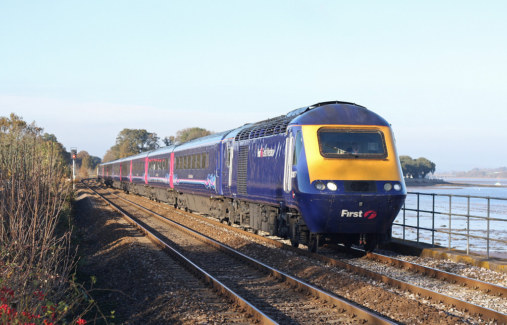 43187/43, 12.06 London Paddington-Penzance, Powderham, near Starcross, 14-11-12.