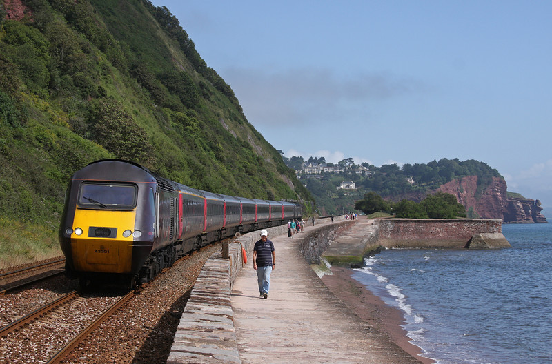 43301/43304, 06.00 Leeds-Plymouth (late), Teignmouth, 14-8-12.